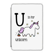 U Is For Unicorn Case Cover For Kindle 6 E-reader - Funny Alphabet Cute