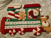 Train Advent Soft Large Calendar Countdown To Christmas Vintage Holiday