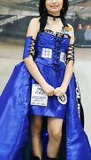 Bbc Doctor Dr Who Blue Tardis Cosplay Costume Handmade With Leds