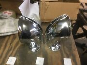 Pair Side Vents Chrome Plated Nov 18 Angled For Deck