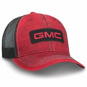 Red Washed Gmc Cap Mesh Truck Hat. Gm Official