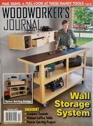 Woodworkers Journal Oct 2019 Wall Storage System Nail Guns Free Shipping Cb