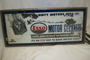 And039esso Motor Cleanerand039 Lighted Sign