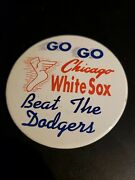 Rare 1959 Go Go Chicago White Sox World Series Beat The Dodgers 3 Pin Button