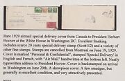 1929 From Mntrl Canada Cover To American Pre. Herbert Hoover A Unique. Oapoh