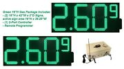 Led Gas Signs/double Sides/ Remote Control /high Brtness Green /12 Inch