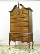 Vintage Hickory Furniture Masterpieces Collection Mahogany Highboy Queen Anne