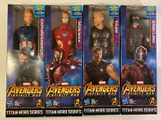 Set Of 4 Captain America Iron Man Thor Star-lord Action Figures Marvel Avengers