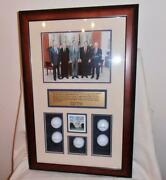 5 Living Presidents Of 1982 Photo And Imprinted Signatures On Golf Balls...rare