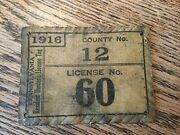 1916 Pa Cloth Hunting License Cameron County 12 ...others Available Also