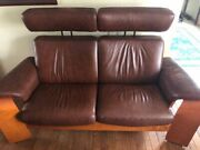 Ekornes Stressless Leather Adjustable Couch - Large