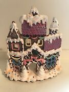 Christmas Gingerbread Castle Tealight Candle Holder 6 Inch 293
