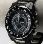 Renato Buzo Extreme Menand039s Watch Swiss Isa 8173 Black Ip/stainless Grey Dial