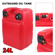 6 Gallon Portable Gas Can Huge Gasoline Container Pontoon Boat Fuel Tank Diesel