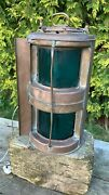 Beautiful Vintage Copper Marine Double Boat Table Lamp Light