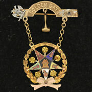10k Gold Pin Grand Worthy Matron Of The Order Of The Eastern Star Golden Gate