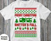 New Merry Christmas Shitters Full Funny Xmas Adult Holiday T-shirts S-3xl