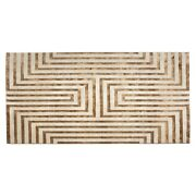 Jennifer Taylor Home Maya Meander Cashmere Area Turkish Rug Gold 6.5and039 X 9.5and039