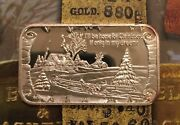 Greathouse Iandrsquoll Be Home For Christmas 999 Silver Art Bar 1 Troy Oz Trg-5