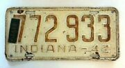 1942 Indiana License Plate Vehicle Staff 42 Car Tag In Indy 14