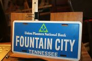 1990and039s Tennessee License Plate Union Planters Bank Fountain City Knoxville