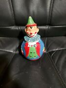 Rolly Polly Toys German Wobble Clown Vintage 1960s