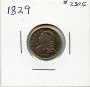 1829 10c Capped Bust Silver Dime. Almost Uncirculated. Lot 1971