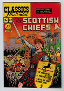 Classic Comics 67 5.5 1st Edition The Scottish Chiefs 1950 Ow Pages