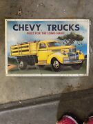 Chevy Trucks Built For The Long Haul Vintage Tin Metal Sign, Aaa Sign Co.