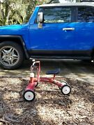 Vintage Radio Flyer Scoot About Ride On 4 Wheel