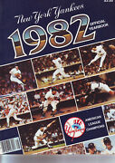New York Yankees 1982 Official Yearbook-dentguidrygossagerighettiwinfield