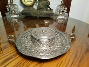 Derby Silver Co Silverplate Repousse Candy Condiment Dish Dsco 4737 Heavy Relief