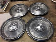 Vintage 1960andrsquos Chrysler Hubcaps Lot Of 4 Andmdash14 Inch