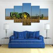 Multi Panel Print Old Deere Canvas 5 Piece Farm Tractor Field Picture Wall Art