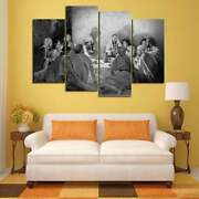 Multi Panel Print Last Supper Canvas Wall Art Upper Room Piece Black And White