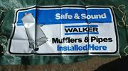 Nos Walker Mufflers And Pipes Installed Here Banner Original Safe N Sound 68x33
