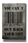 Cortesi Home You Can't Buy Back Your Life By Nicklas Gustafsson, Giclee Canvas