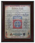 Mc-better Army Airborne Creed 82nd Airborne Division Framed And Personalized