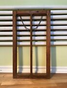 Vintage Wooden Picture Frame/window Frame With Hanging Metal Chain Unusual