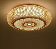 Round Light Shade Ceiling Chandelier Cover Elegant Room Wooden Lampshades Modern