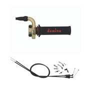 Domino Kre Gold Quick Action Throttle + Grips/cables Kawasaki Kxf 250 11-16