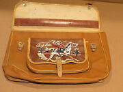 Leather Book Satchel, Unknown Maker, 1950s, Mint