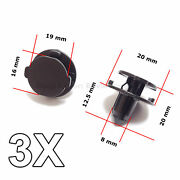 3x Bumper Air Duct Bumper Shield Protector Clips For Nissan