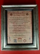 Mc-better Army Sapper Creed All Units Aged Parchment Framed Personalized