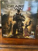 Xbox 360 S Gears Of War 3 Console Limited Edition 320gb 2 Controllers Sealed New