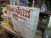 Monroe Putnam Fadeless Dyes Tints Store Advertising 19 Counter Display Cabinet