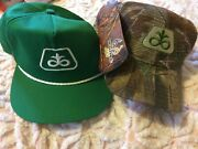 Seed Corn Pioneer Caps Set Of 2 Never Worn Agriculture Farm Made In Usa