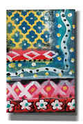 Epic Graffiti 'pattern Painting Iv' By Linda Woods, Giclee Canvas Wall Art