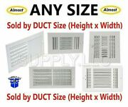 Air Register Vent Cover Grille Ac Duct Sizes Wall Sidewall Ceiling Steel White X