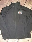 Great Wolf Lodge Womens Size Small Sport Zip Up Black Coat Polyester Euc Jacket
